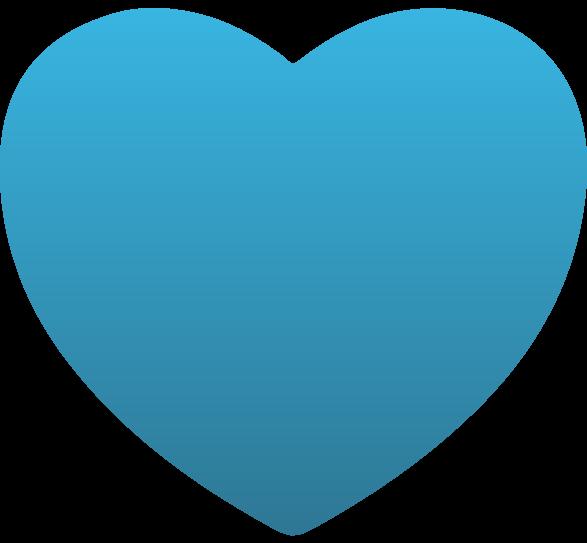 Heart static cling custom. Hearts clipart light blue