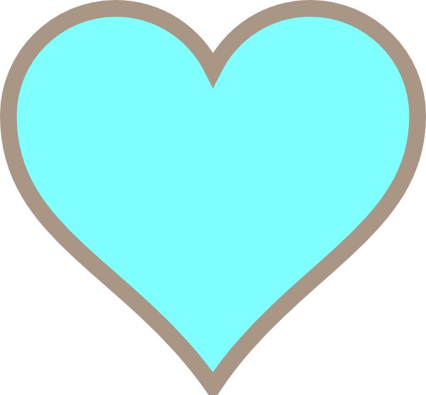 Think turquoise and brown. Hearts clipart line