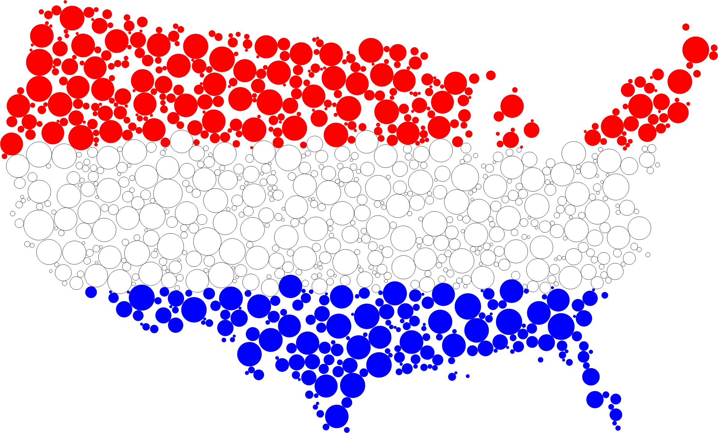 United states flag circles. Clipart heart map