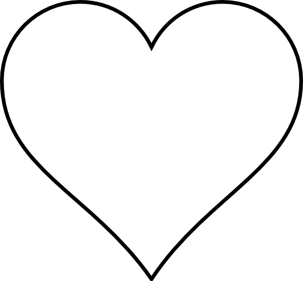 Blank heart clip art. Clipart hearts map