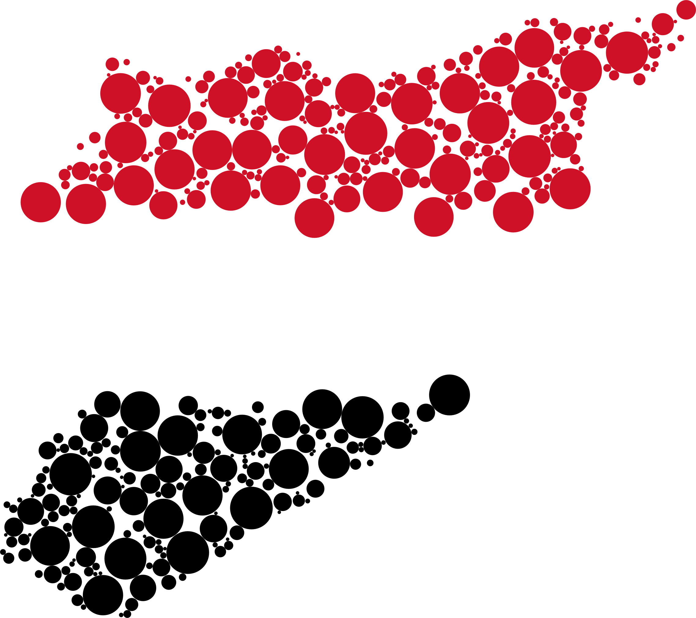 Clipart heart map. Syria flag circles big
