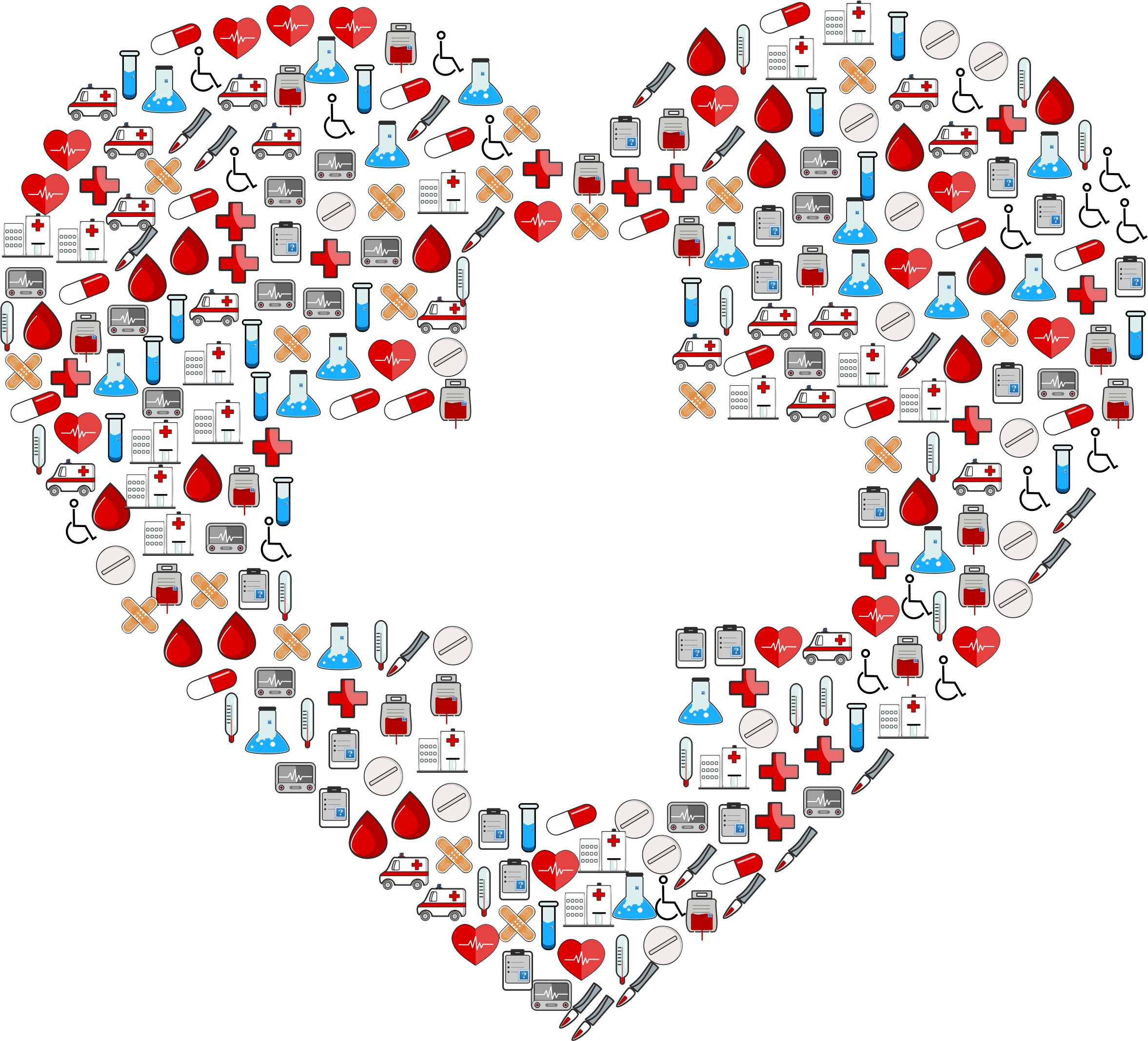 Icons first aid heart. Heartbeat clipart medical