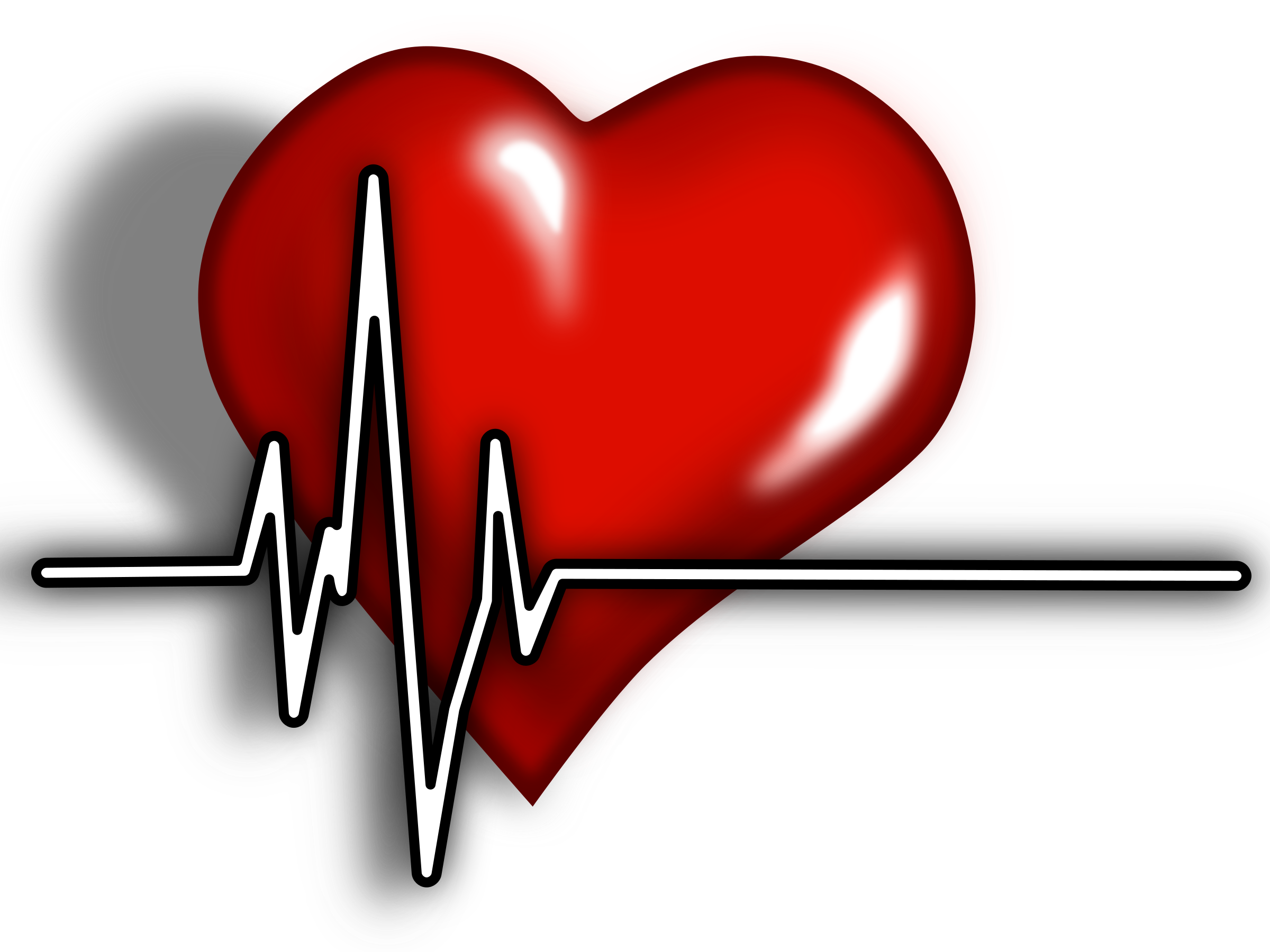 Heart ecg logo big. Heartbeat clipart telemetry