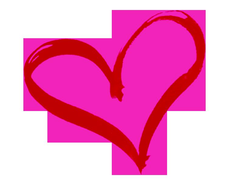 Pink heart outline atexglat. Parents clipart love care