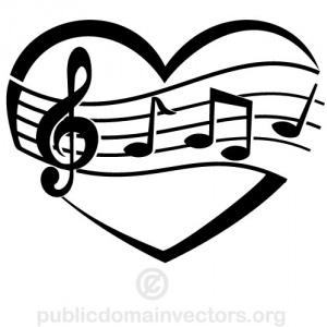 Music clipart heart. Notes clip art panda