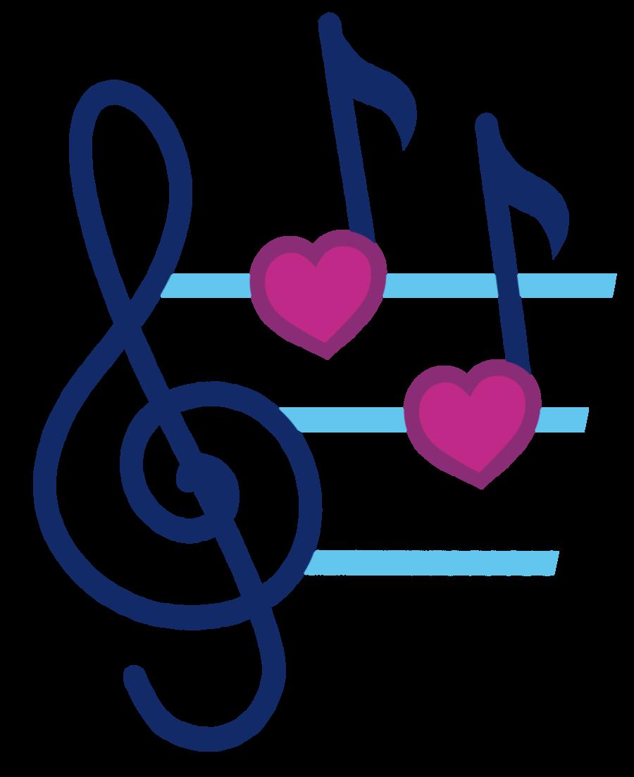 Music clipart heart. Notes beat panda free