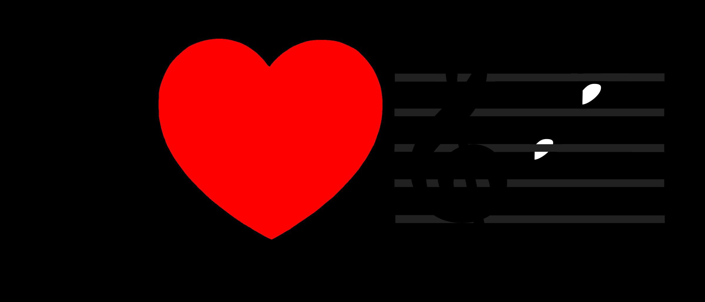 Hearts clipart music. I love heart bflat