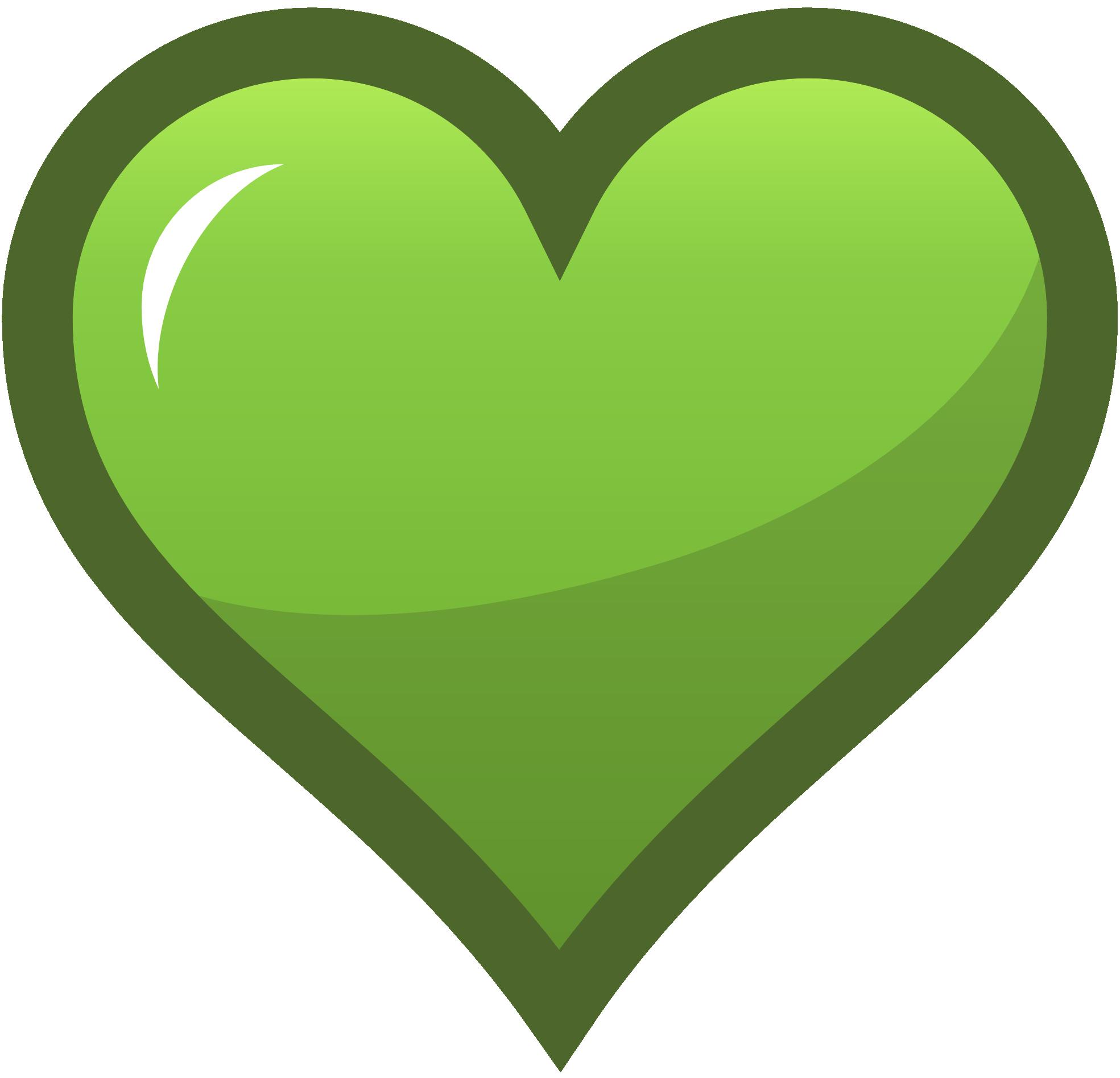 Yellowgreen green icon ocal. Heat clipart row heart