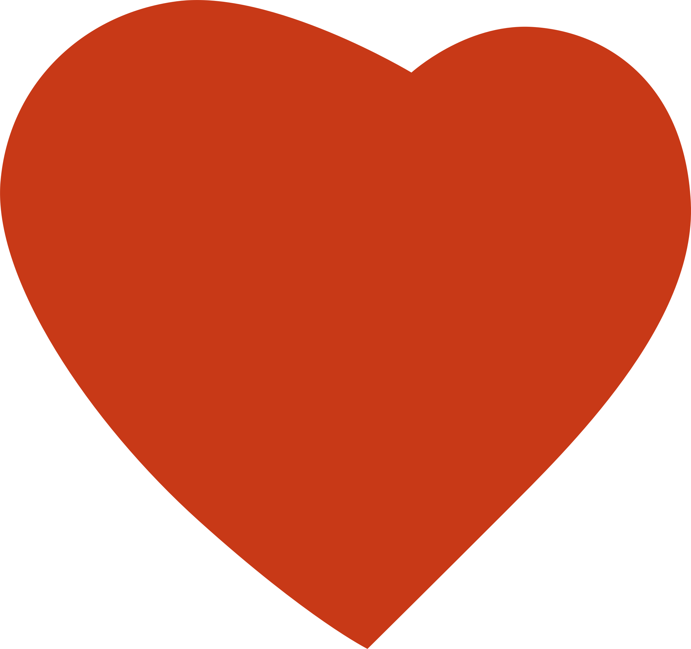 clipart heart orange