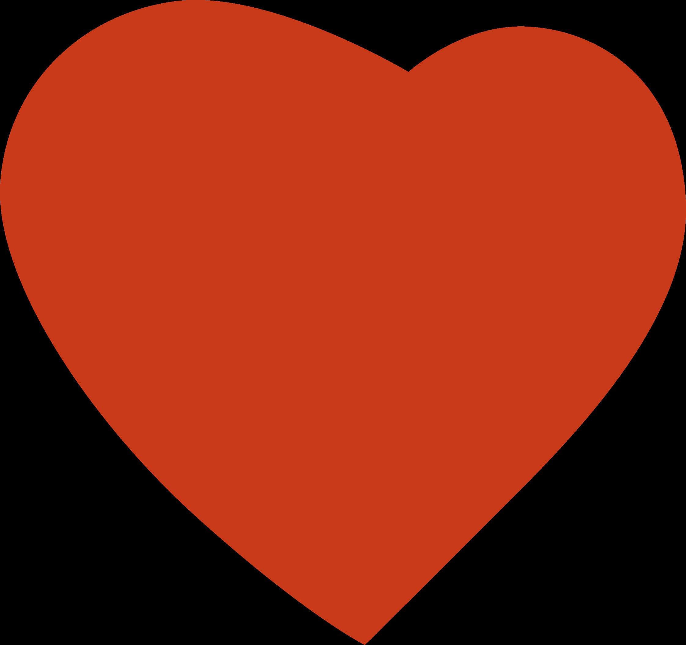 Cuore big image png. Clipart heart orange