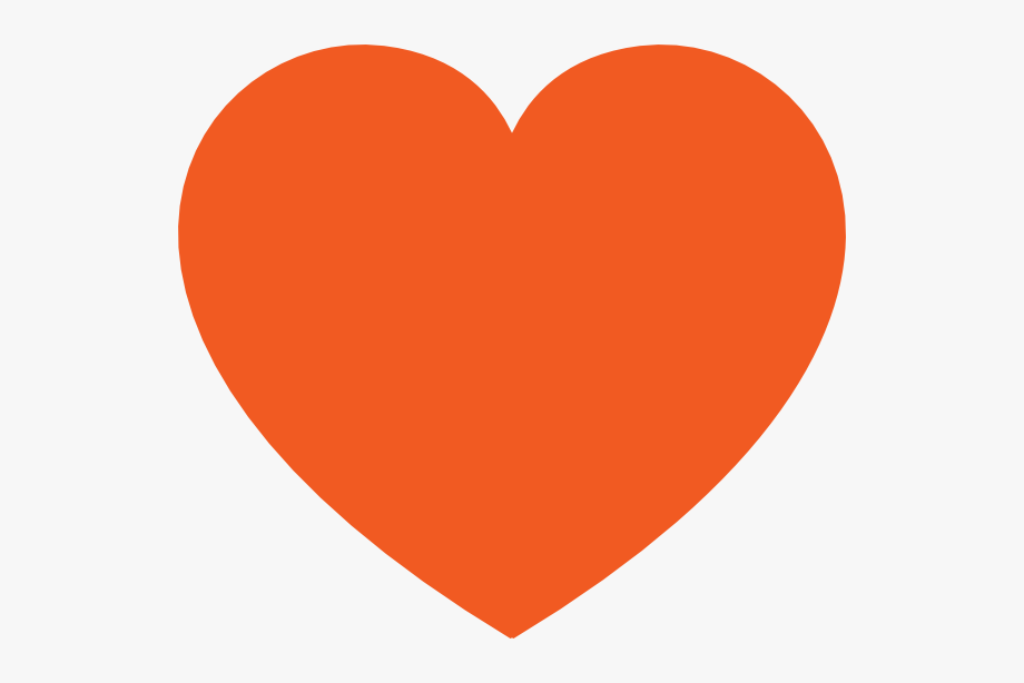Instagram clip art free. Clipart heart orange