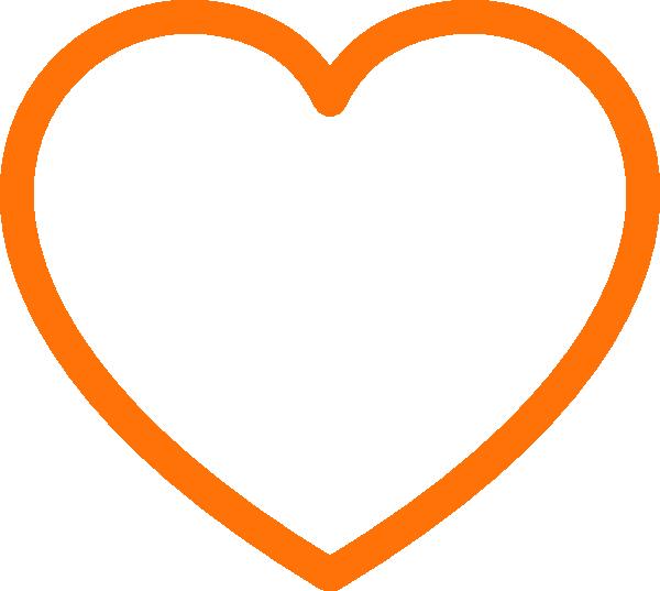 Clip art at clker. Clipart heart orange