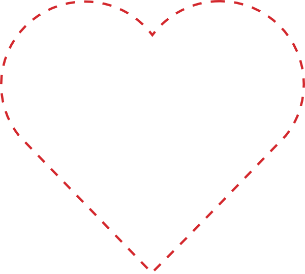 Hearts clipart vector. Stitched heart outline clip