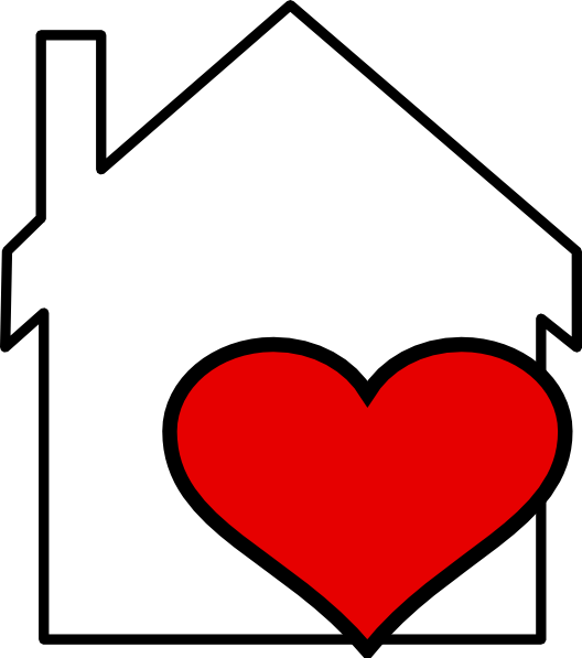 House with clip art. Clipart heart outline