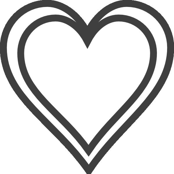 Double heart clip art. Hearts clipart outline