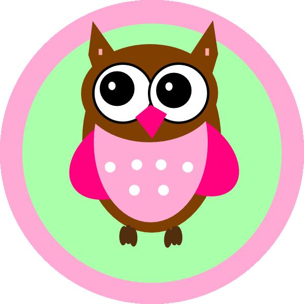 Heart clipart owl. Pink tag clip art
