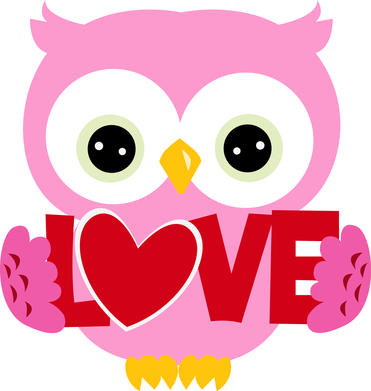 collection of cute. Owls clipart february