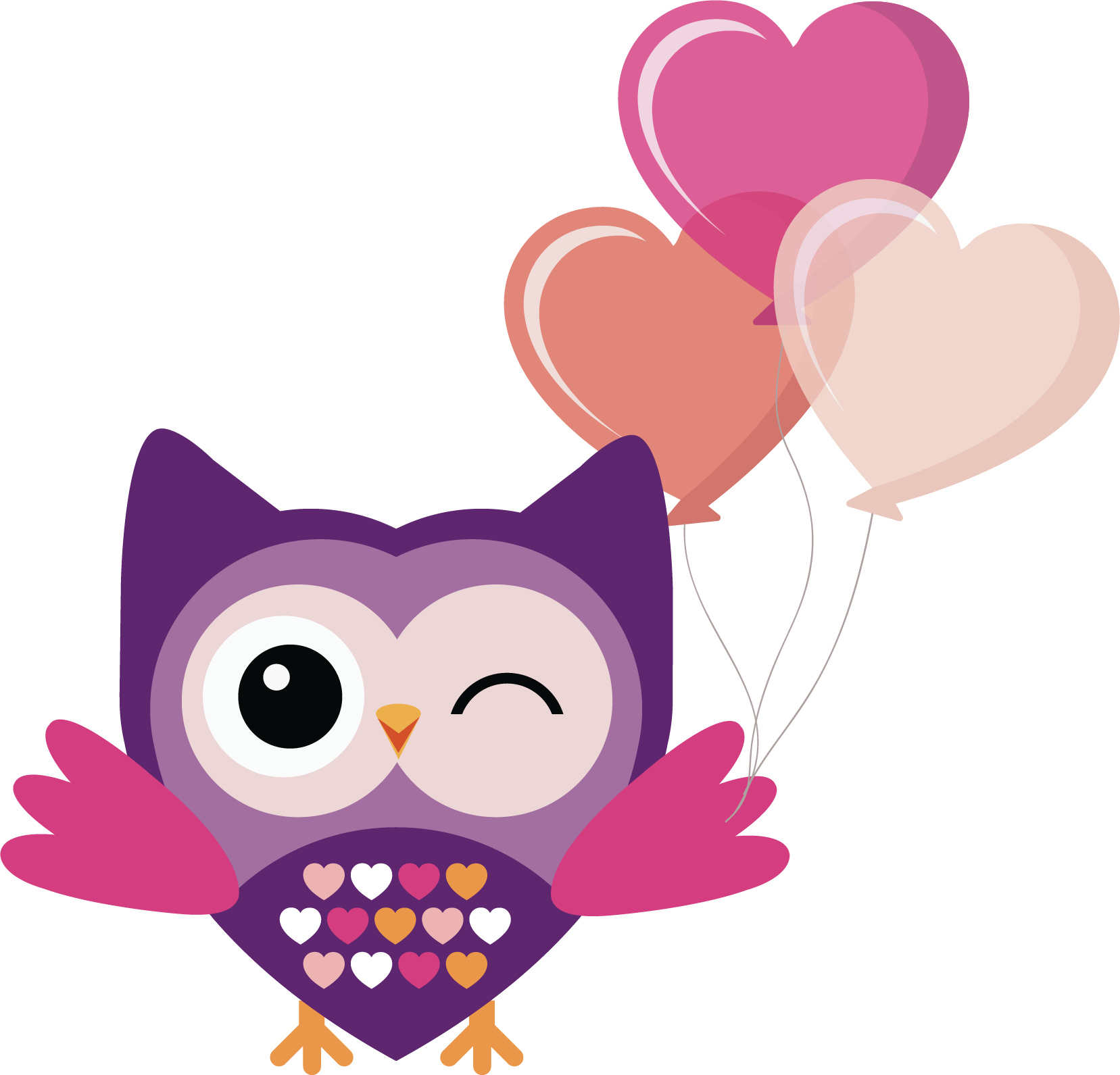 Clipart hearts owl. Png transparent free images