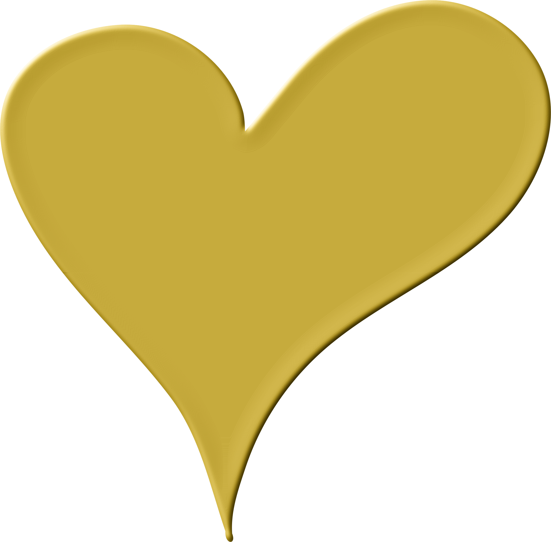 Heart clipart garden. Gold group pencil and