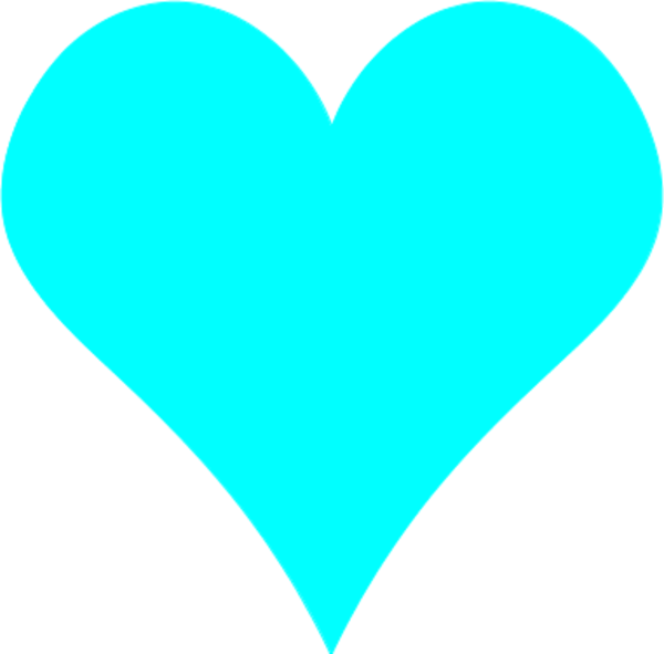 Teal shapes and in. Clipart heart pencil