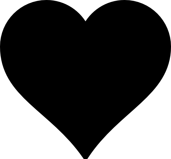 Broken heart silhouette at. Clipart hearts vector