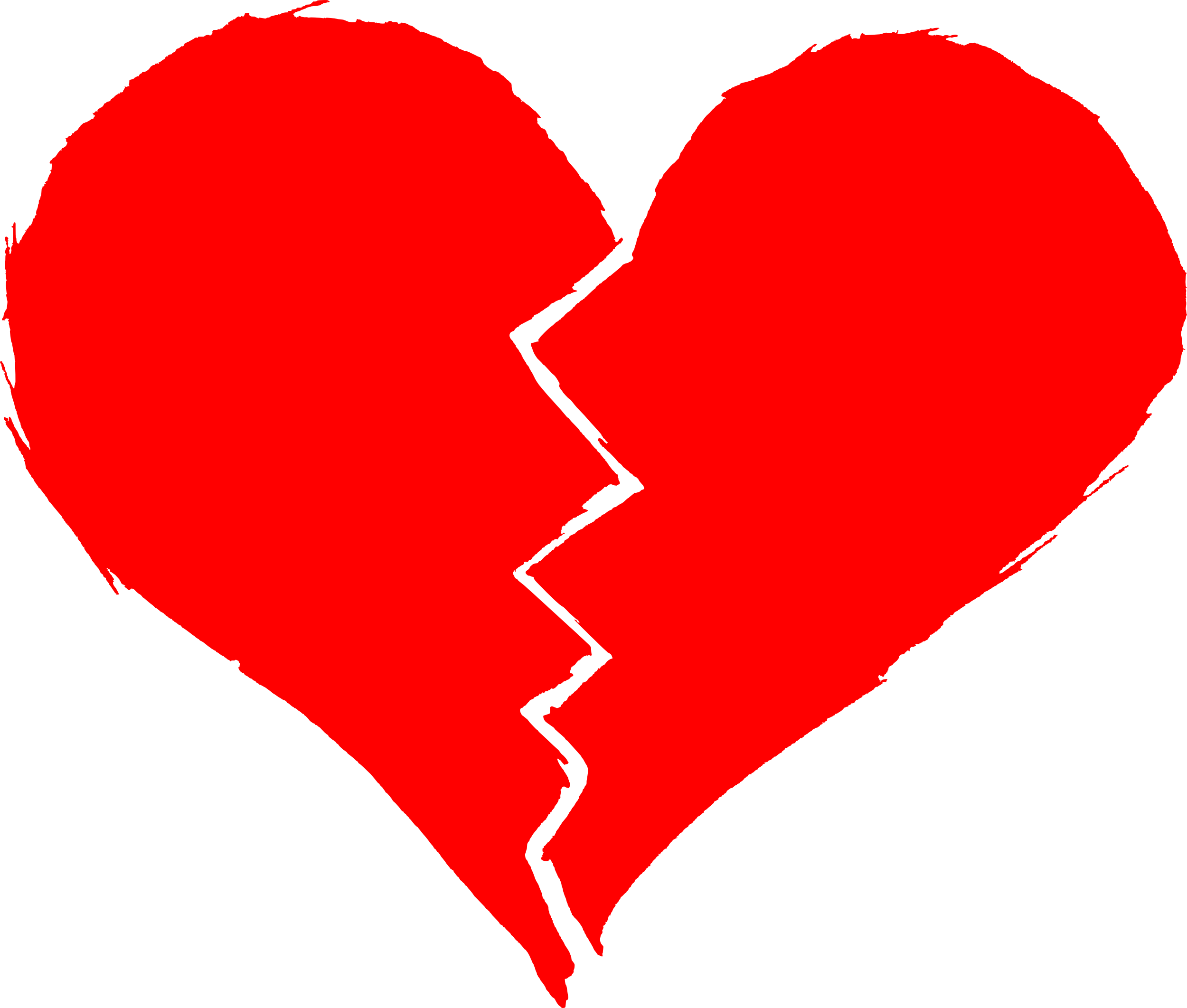 Hearts clipart silhouette. Broken heart at getdrawings