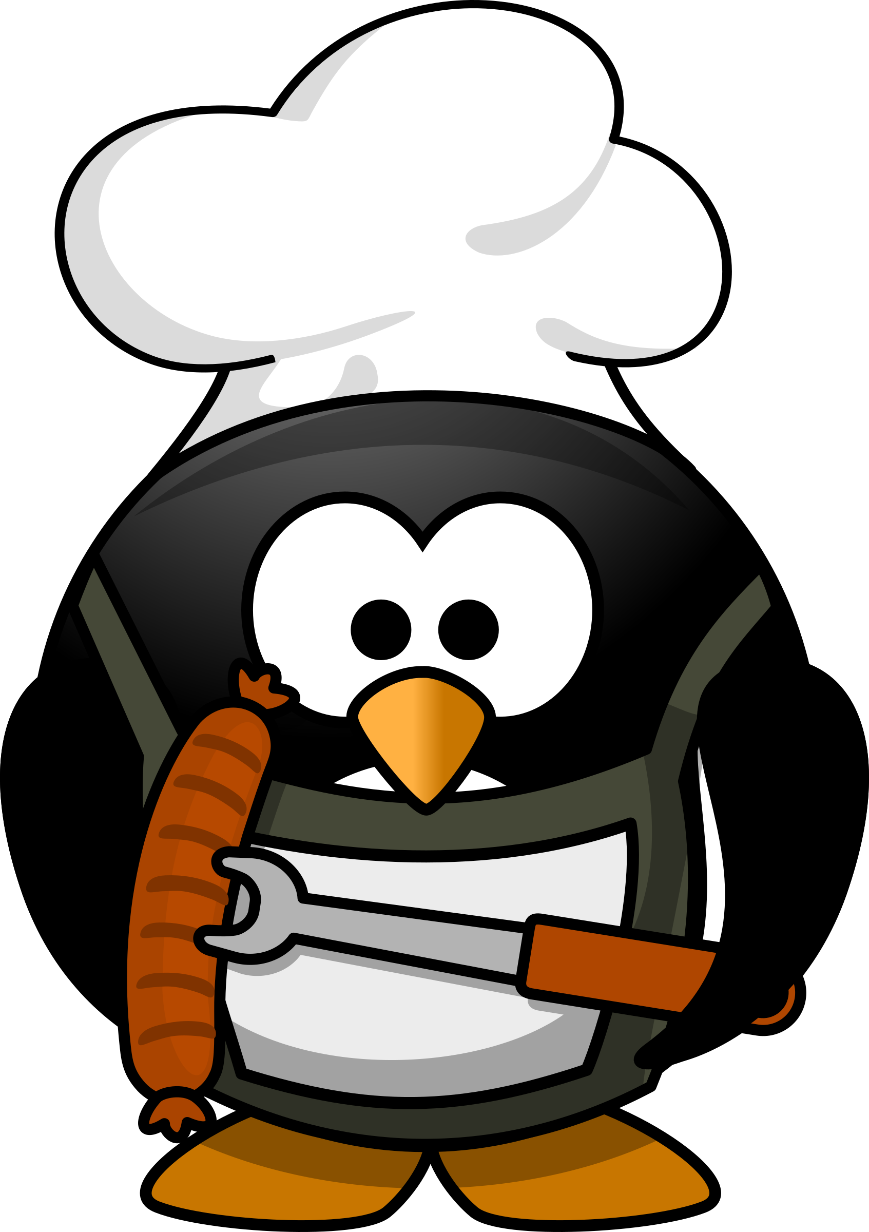 Stamp clipart bbq. Free chef penguin high