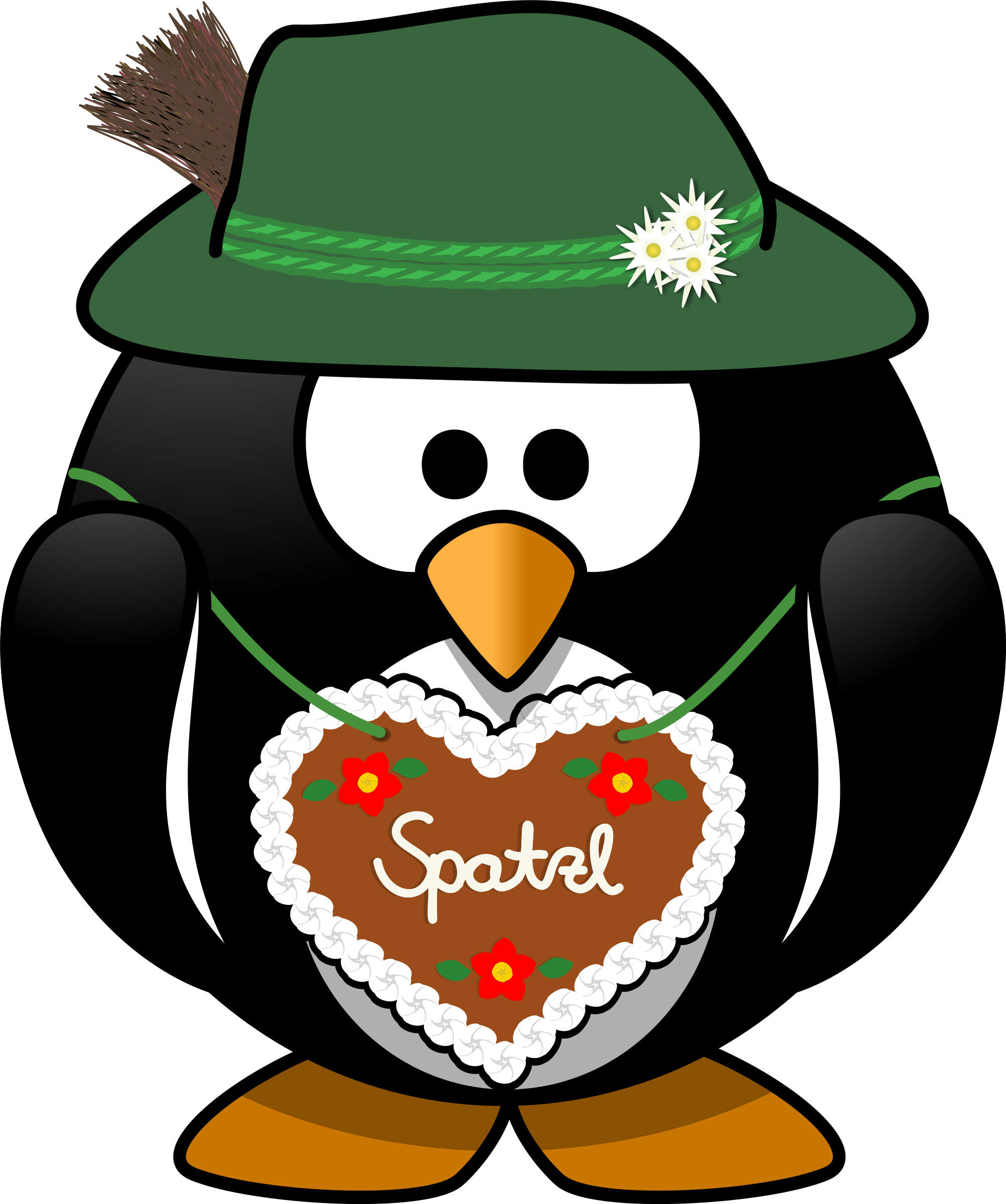 From the alps big. Heart clipart penguin
