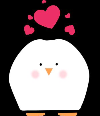 Penguin valentine hearts clip. Clipart penquin heart