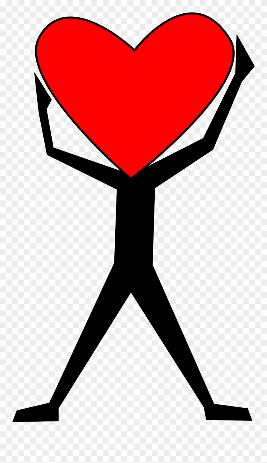 Hearts clipart man. Person icon with heart