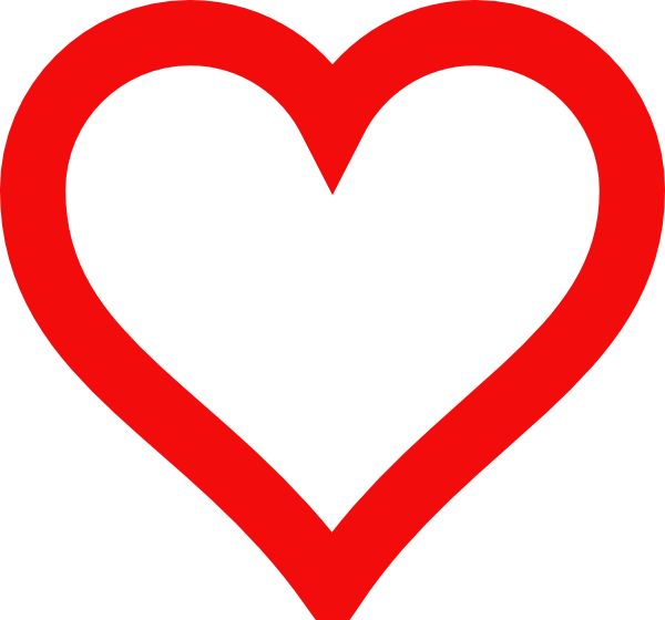 Heart outline clip art. Hearts clipart volleyball