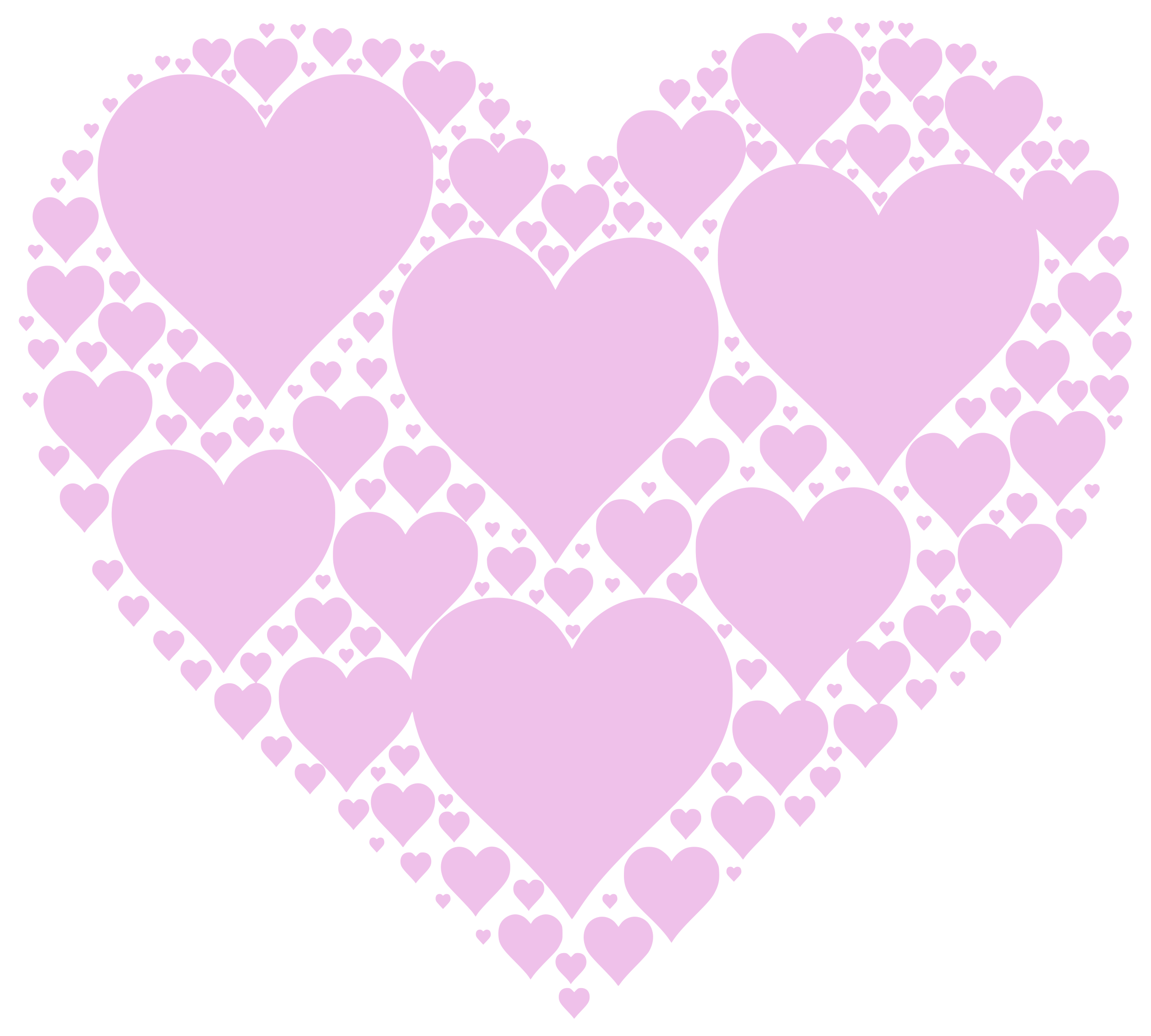 Clipart heart pink. Hearts in big image