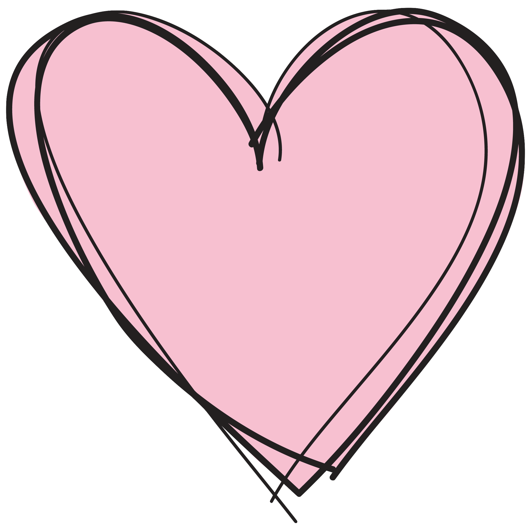 Transparent background . Clipart heart pink