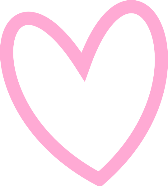 Clipart hearts pink. Slant heart outline clip