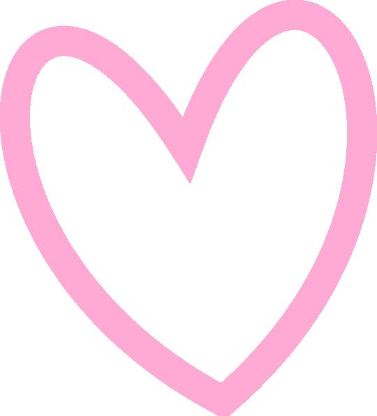 Slant outline clip art. Clipart heart pink