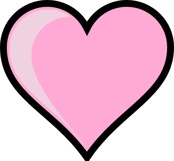 Heart clip art at. Clipart hearts pink