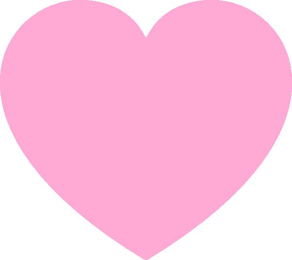 Clip art at clker. Clipart heart pink