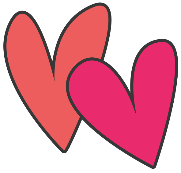 Cute png collection. Clipart heart pink