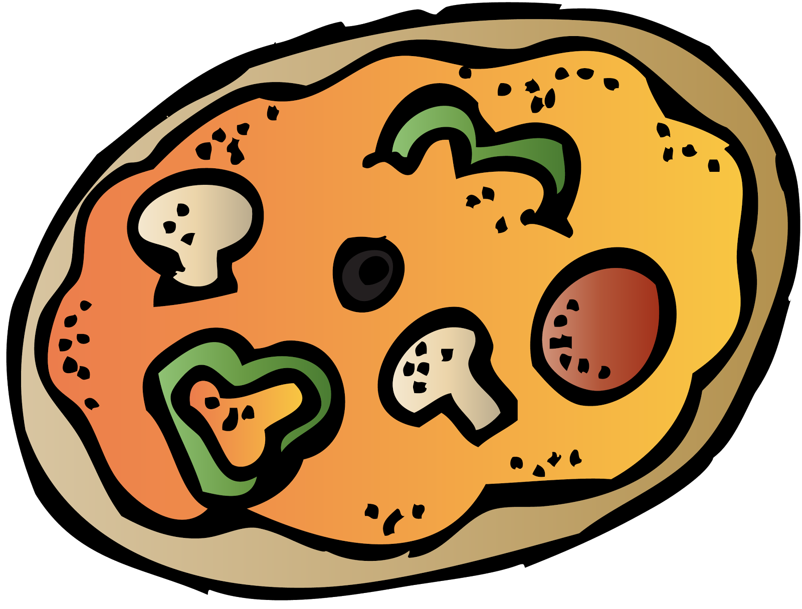 Maestra roque donations to. Heart clipart pizza