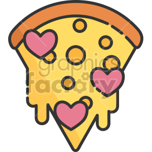 Dripping heart pepperoni royalty. Hearts clipart pizza
