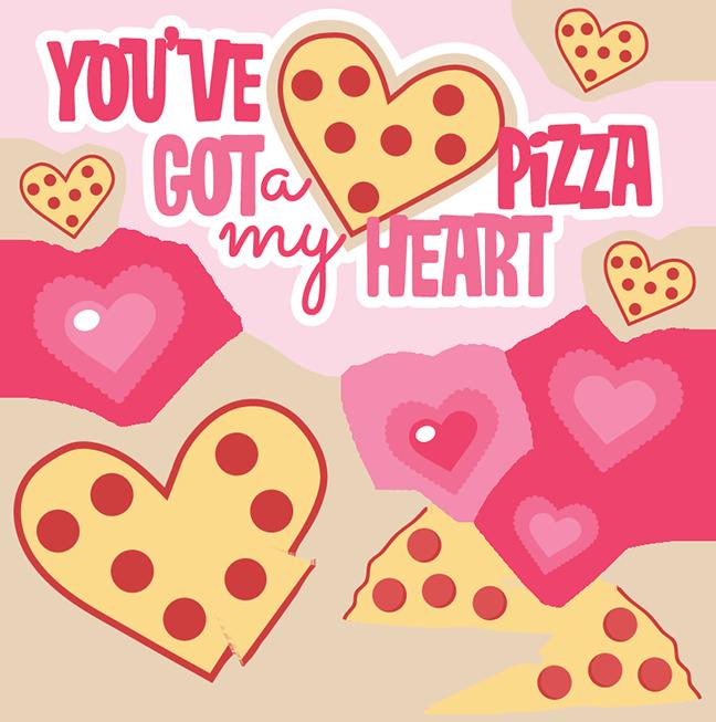 You ve got a. Clipart heart pizza