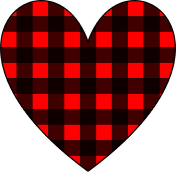 Heart clip art arts. Hearts clipart plaid