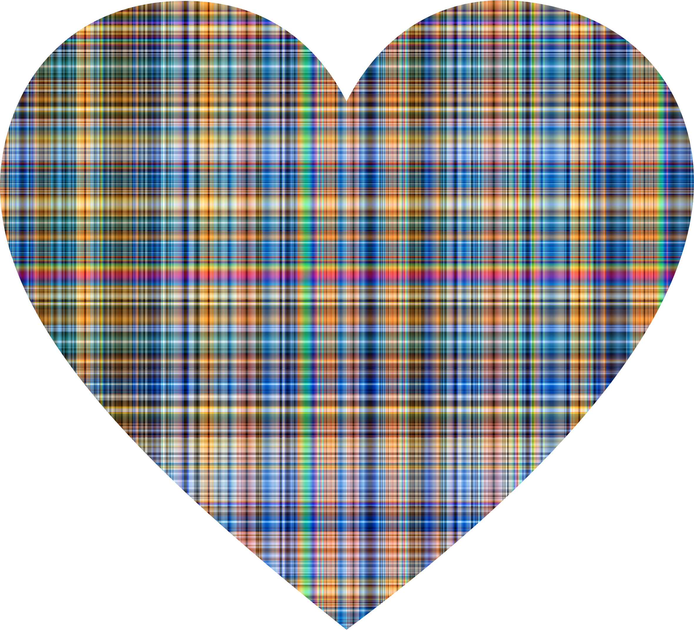 Heart clipart plaid. Colorful gingham big image