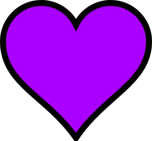 Hearts clipart purple.  heart clip art