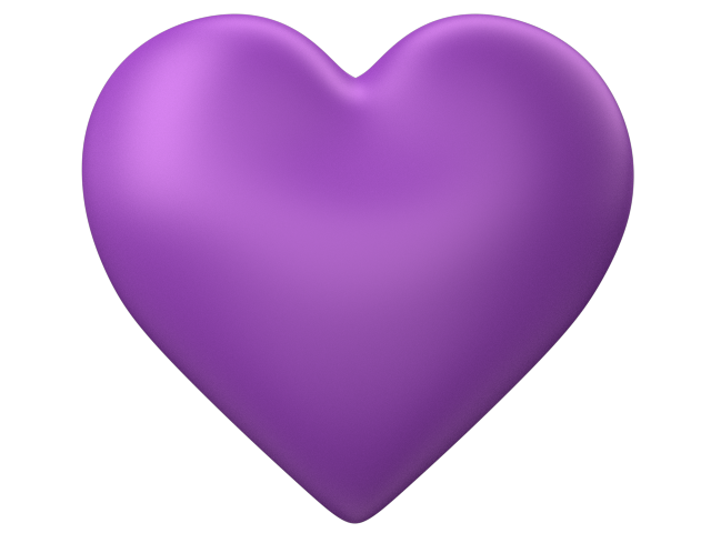 Purple hearts png.  d love heart