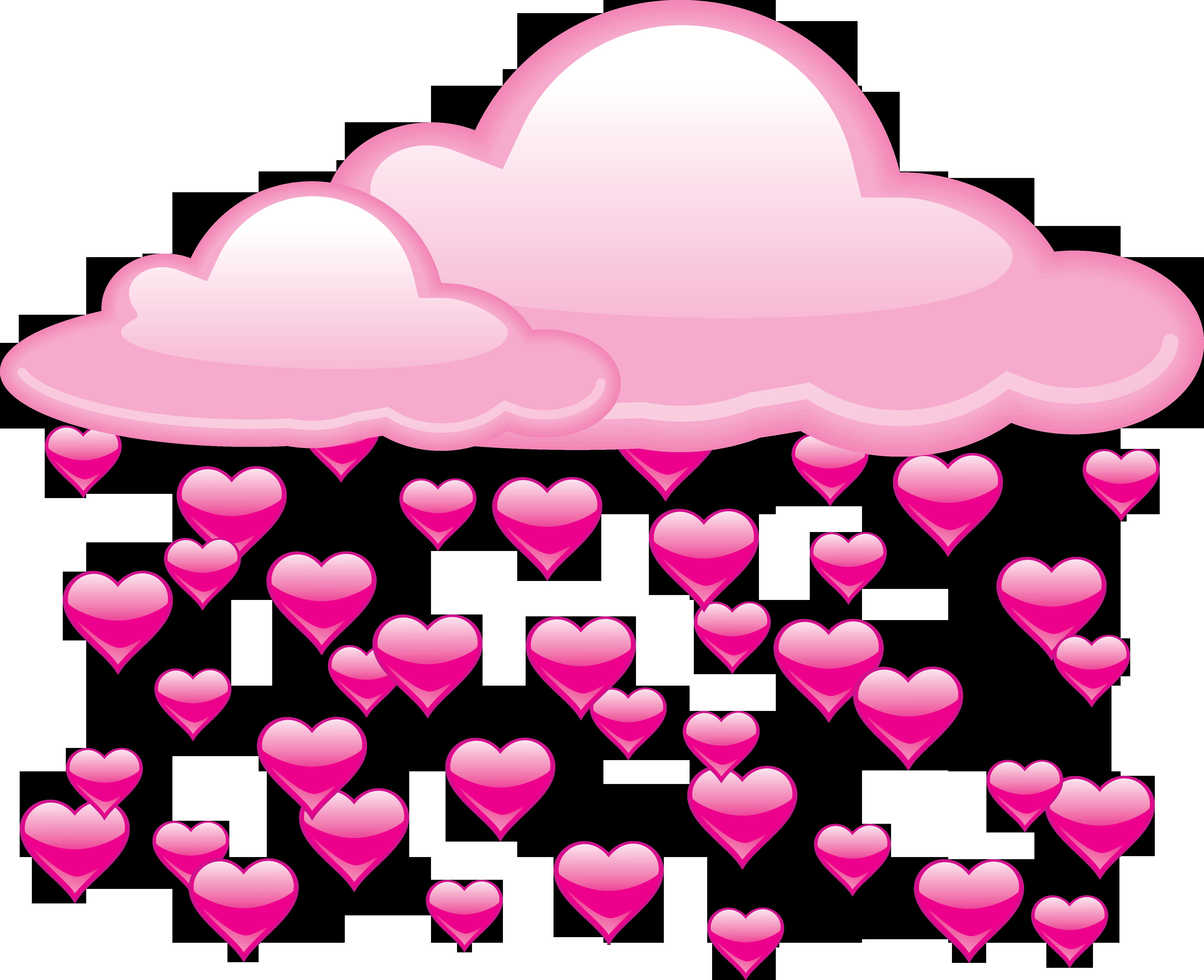 Hearts clipart rain. Love heart clip art