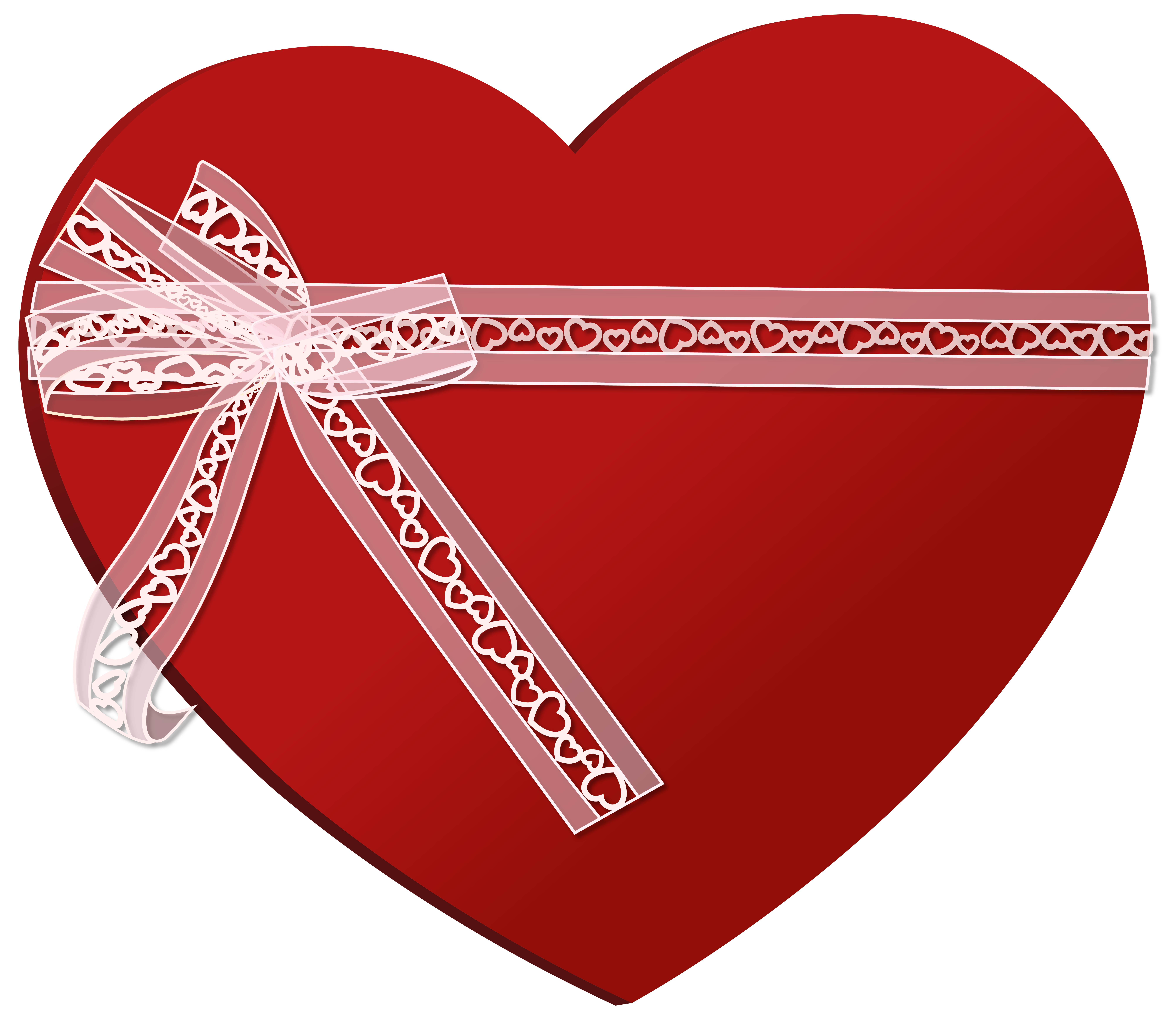 Hearts clipart ribbon. Heart with png clip
