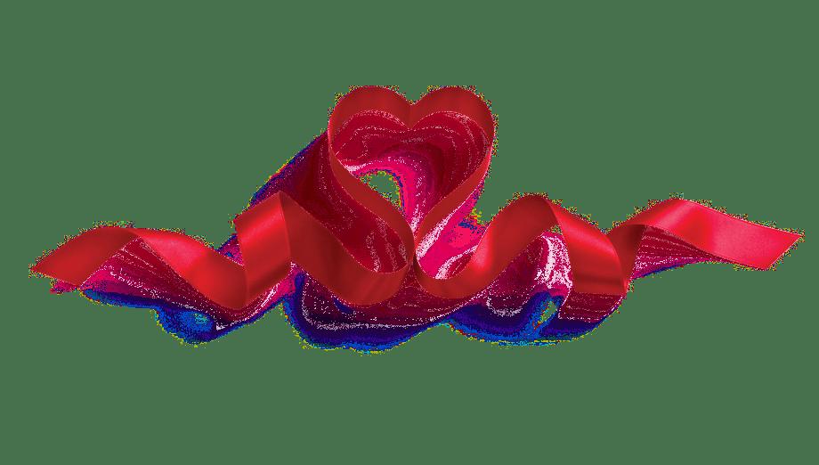 Hearts clipart ribbon. Love transparent png stickpng