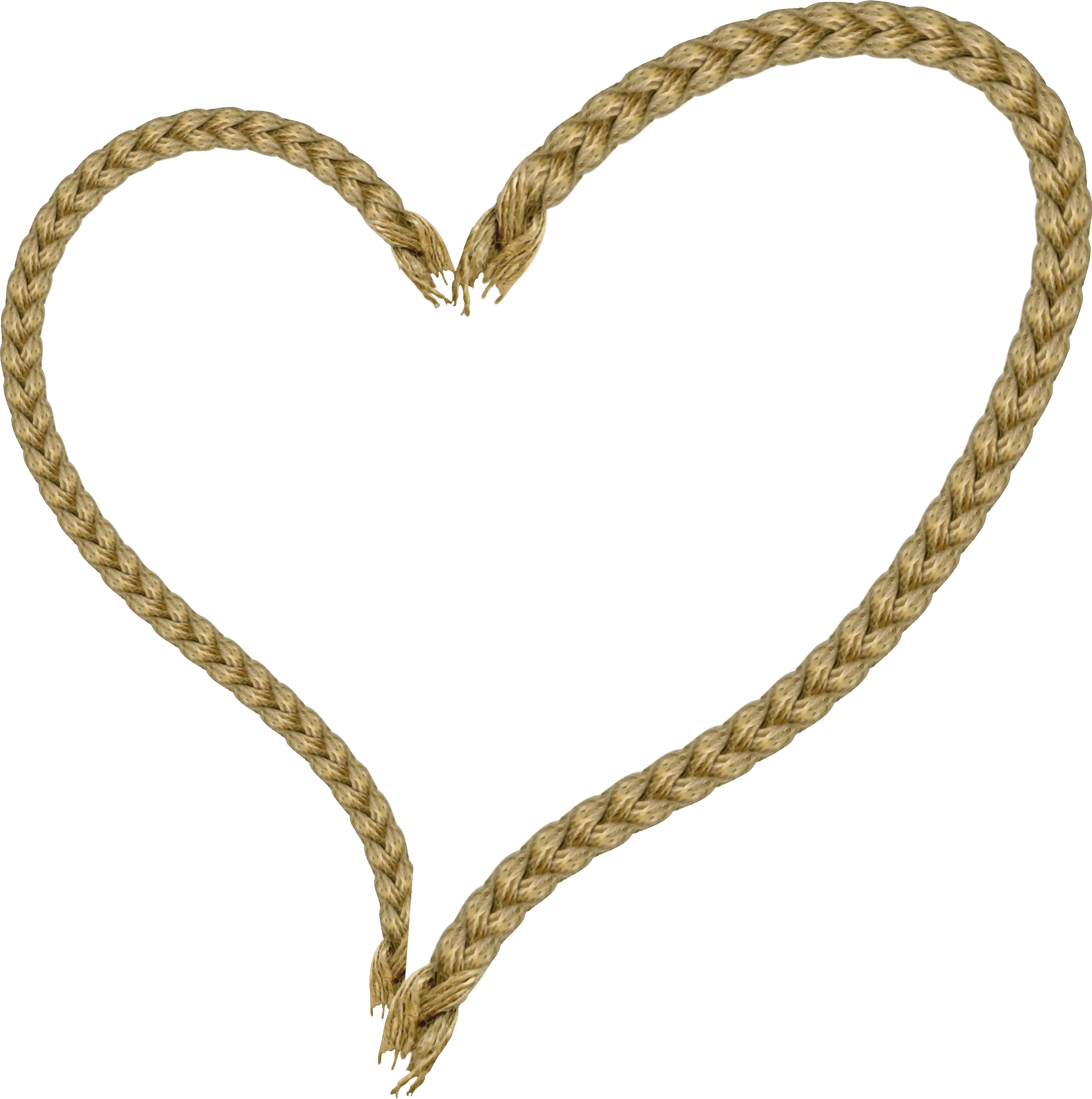 Clipart heart rope. Big image png