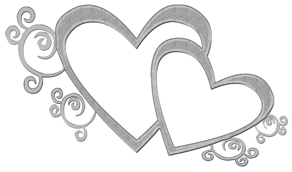 Hearts clipart rope. Double heart drawing at
